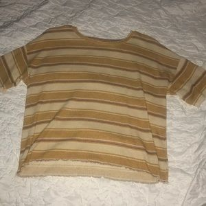 Striped Latticed Tee